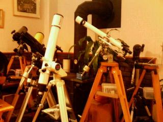 スターパーティ 望遠鏡がいっぱい